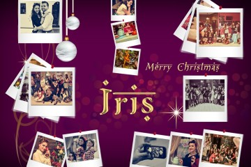 Iris si veste di Natale